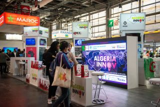 The AfricaTech Lab with country booths such as Algeria, Morocco and Rwanda